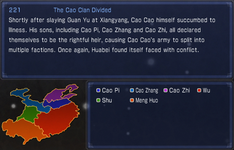 The Cao Clan Divided (what if)