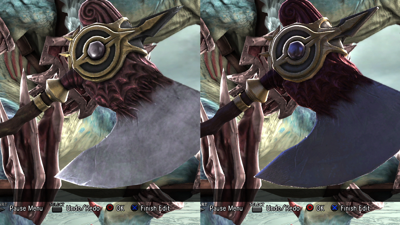 Aeon's 9th (right) is similar to his 1st weapon with different shine.