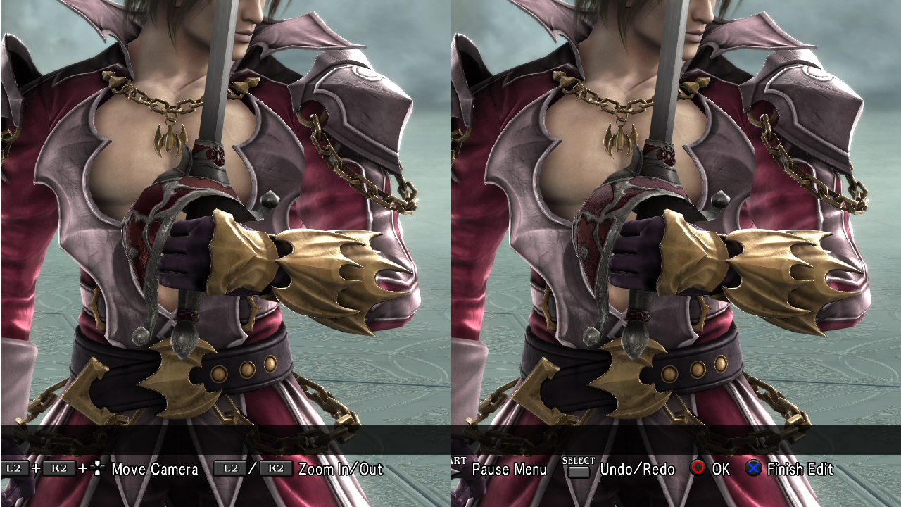 Raphael's 9th (right) is his 1st with slightly bigger hilt and slightly sharper texture.