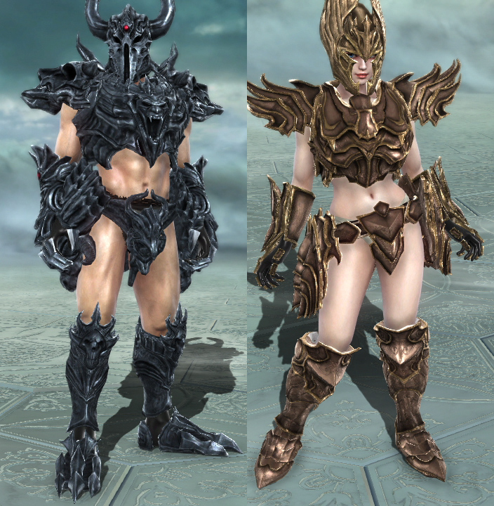 Dark Knight set and White Knight set.